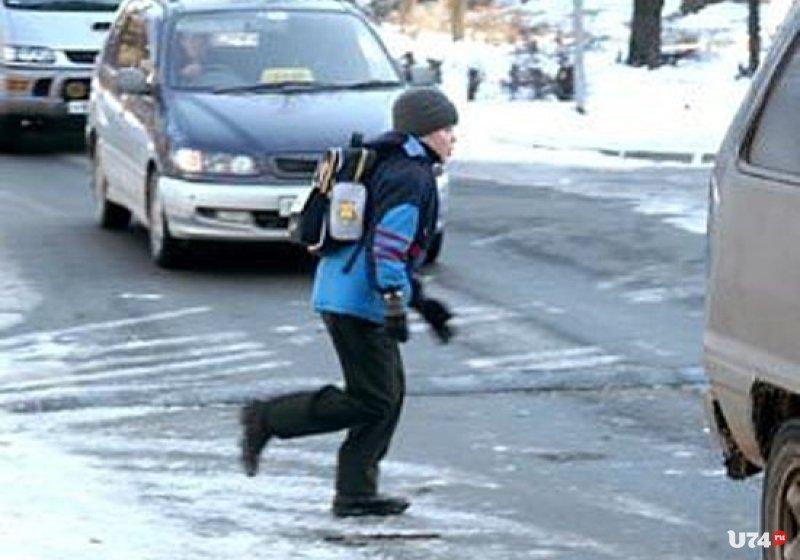 Безопасность детей на зимней дороге